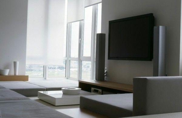 prächtige moderne wohnzimmer designs minimalistisch couch weiß, Hause deko