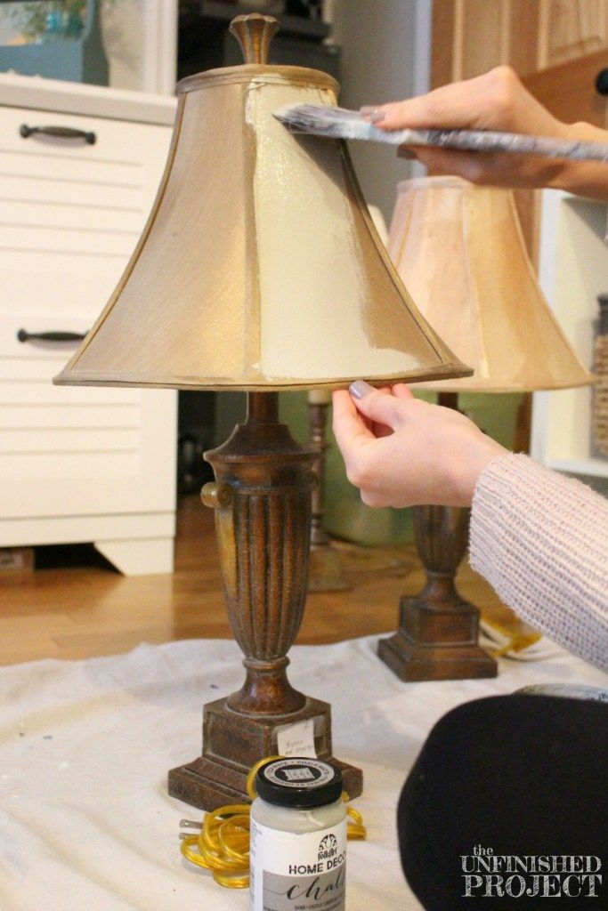 How to paint a lamp shade with chalk paint painted lamp shades how to paint a lamp shade with chalk paint painted lamp shades chalk paint and lamp makeover aloadofball Choice Image