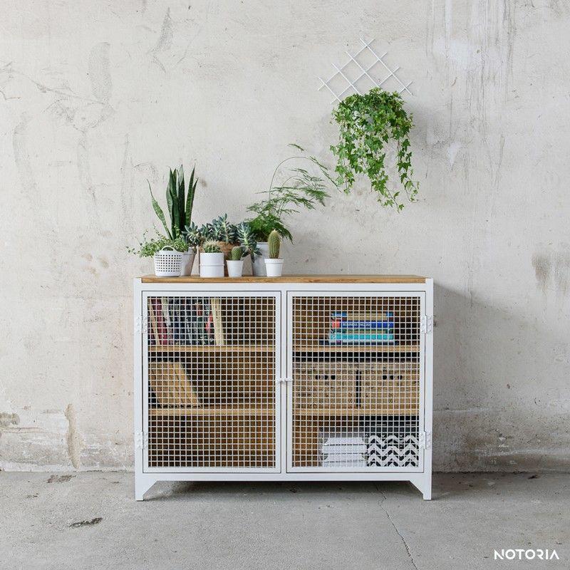 CLATRI II Kommode Sideboard Weiß Industrial Design