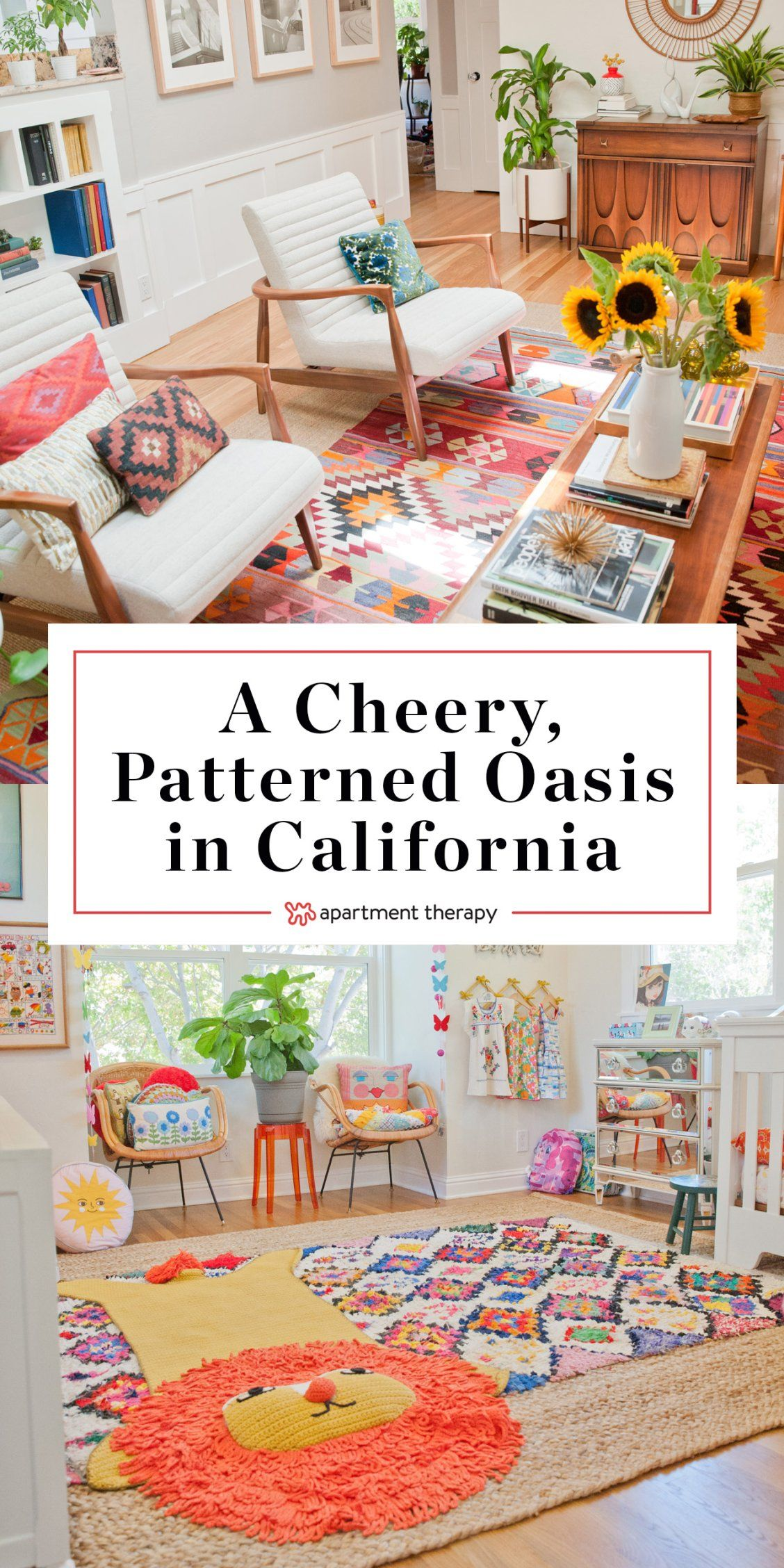 House Tours A Cheery, Patterned Bohemian Oasis In California Looking