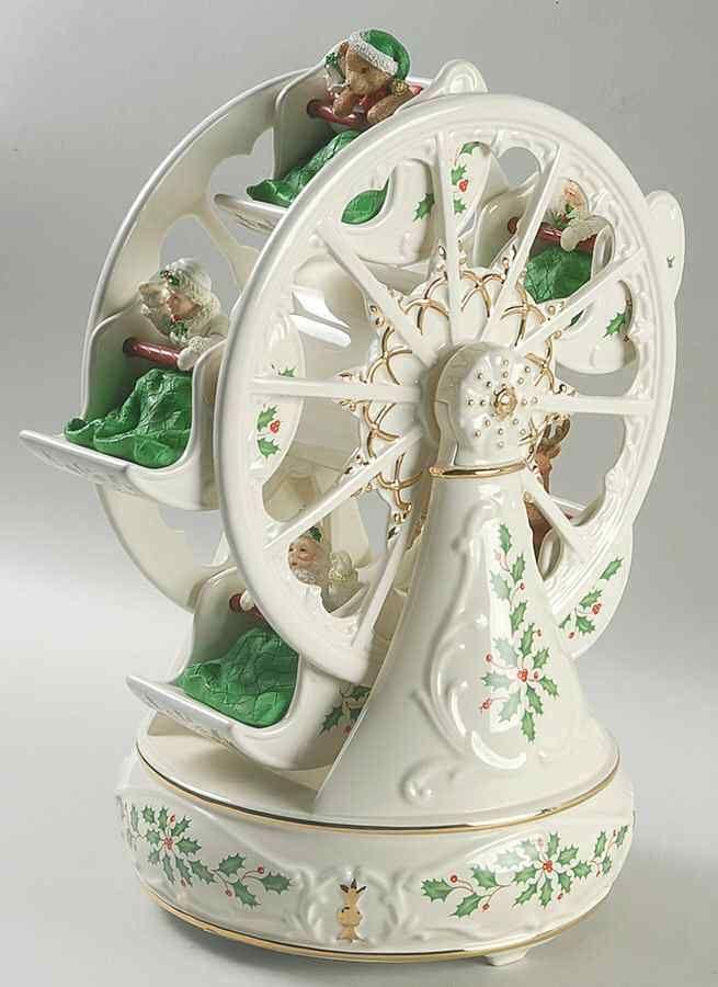 Christmas Ferris Wheel Music Box.Lenox Holiday Ferris Wheel Musical Centerpiece Ebay Link