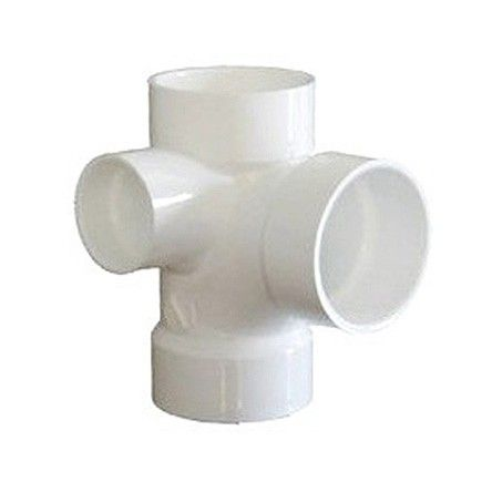 4 X 4 X 4 X 2 Dwv Pvc Sanitary Tee With Left Side Inlet D416 420 Sanitary Inlet Pvc