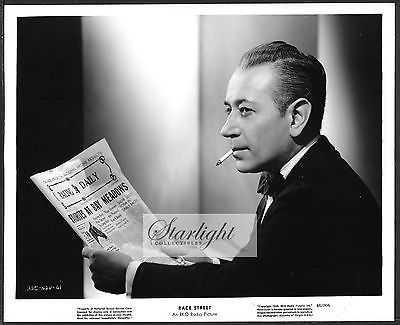 Film Noir George Raft Reading Racing Form Original  Photo Race