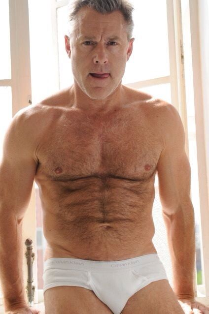 932de5e3c6e smoking hot daddy bear, silver fox, salt and pepper, beefy, older men,  hairy chests, shirtless, tighty whities