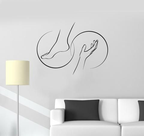 Vinyl Decal Foot Massage Spa Salon Relax Therapy Beauty Wall Stickers Mural (ig2731)