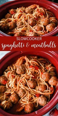Slow Cooker Spaghetti & Meatballs images