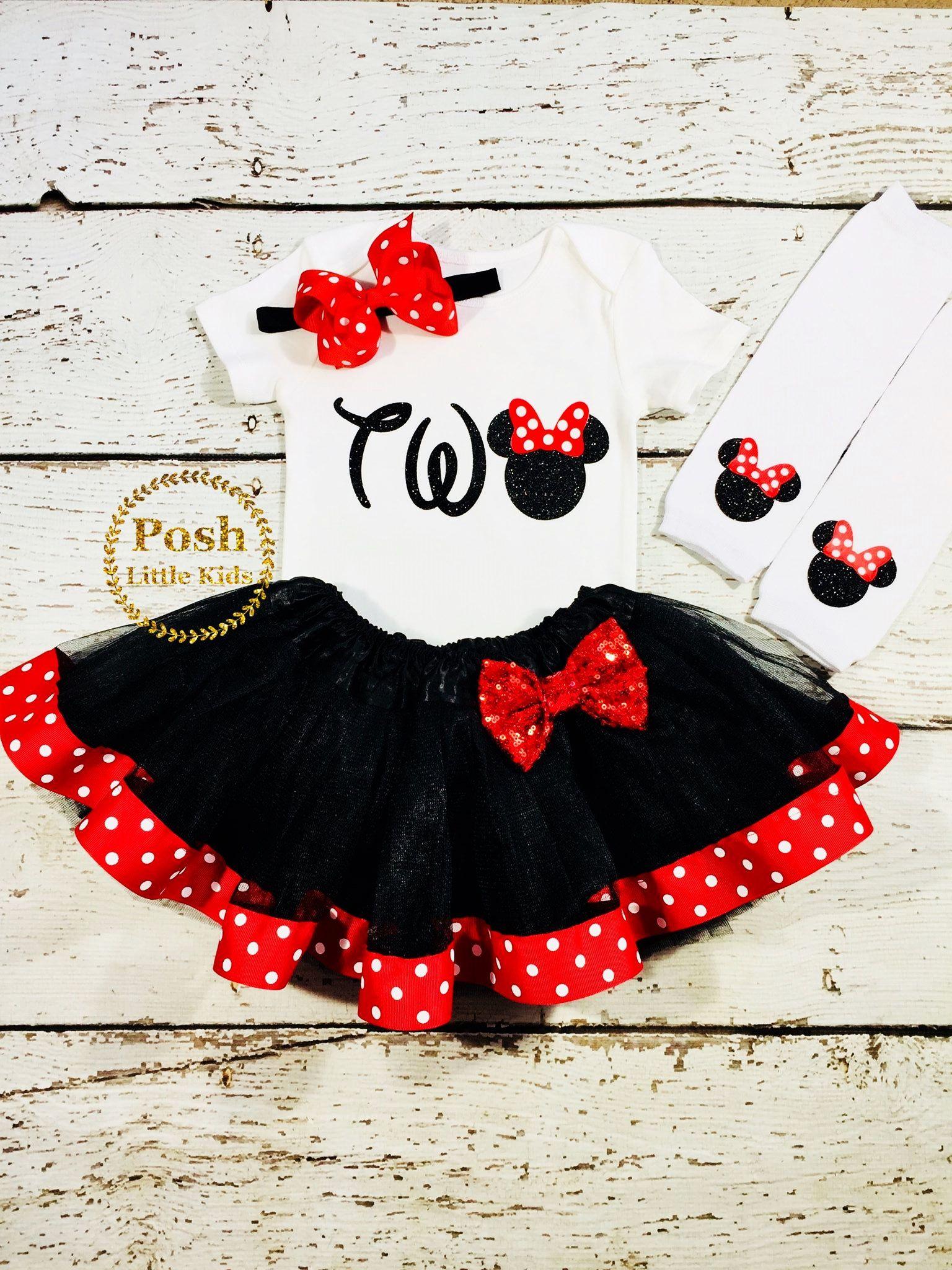 Minnie Mouse tutu set,minnie mouse 1st birthday outfit,cake smash outfit Minnie Mouse Birthday Outfit,Red /& Blac Minnie Mouse Outfit