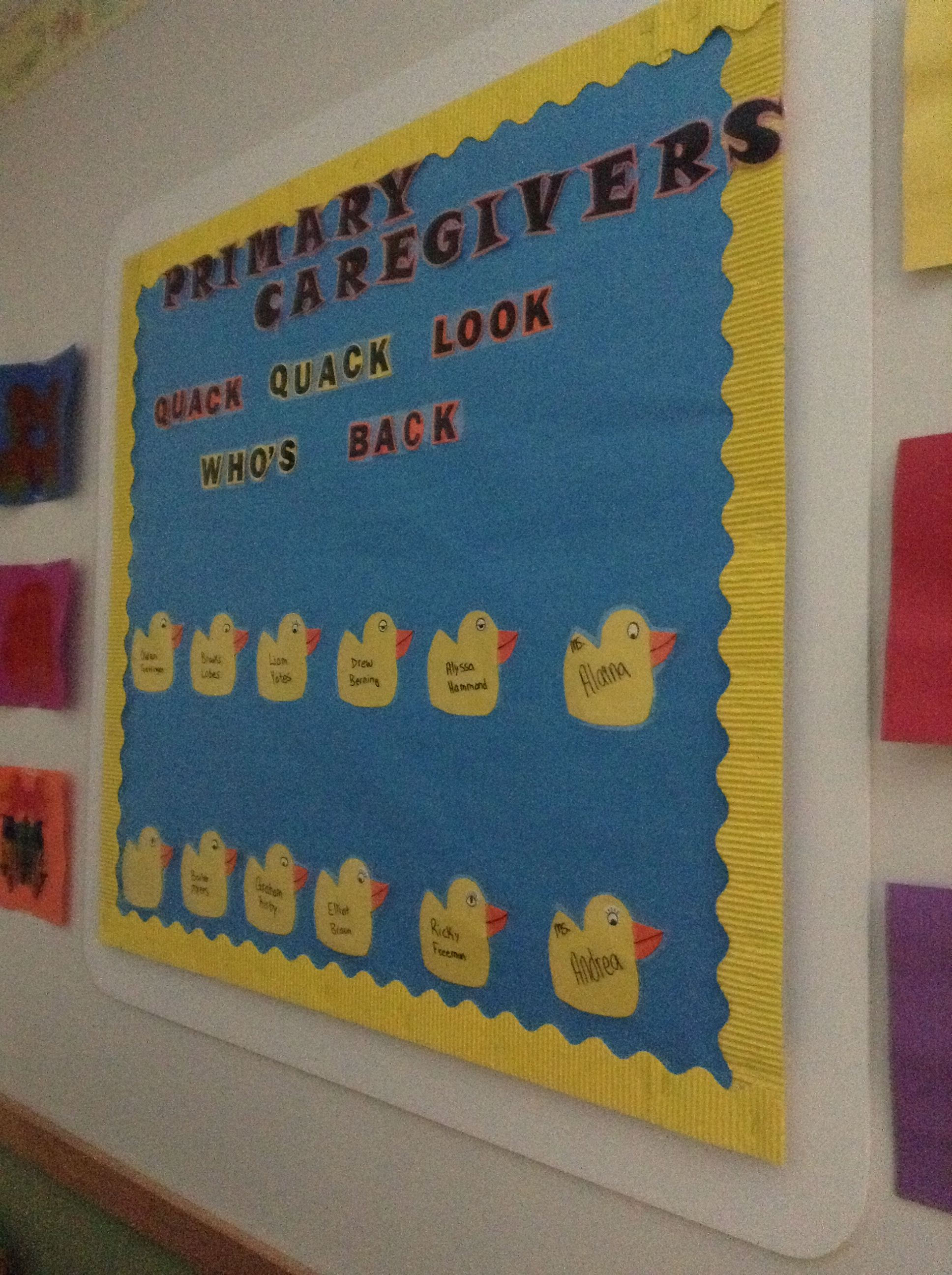 Primary Caregivers Board Look At What We Ve Done