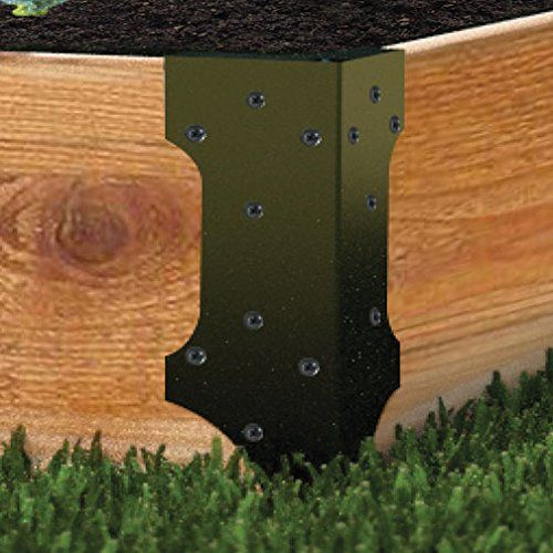 Raised Garden Bed Set Of 4 Corner Brackets Holds Up To 2 400 x 300