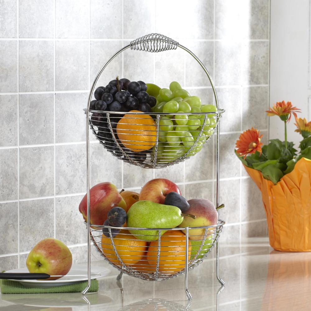 Kitchen Countertop Fruit Baskets In 2020 Vegetable Basket Fruit