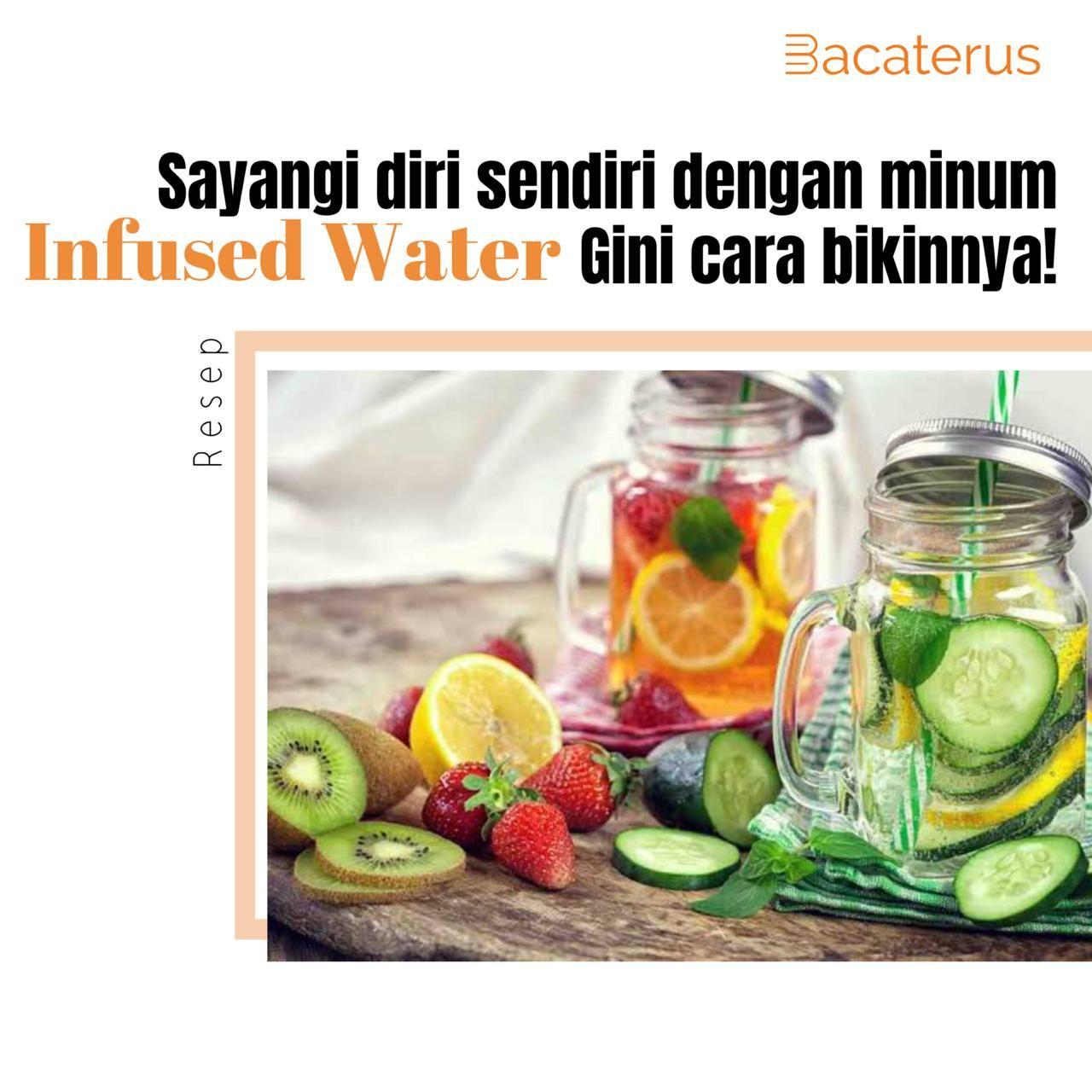 Infuse Water Resep Infused Water Makanan Teh Hijau