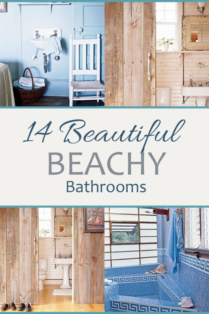 14 Beautiful Beachy Bathrooms Home Decor Blogs Pinterest Beach