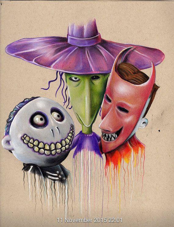 Lock Shock And Barrel Nightmare Before Christmas Tattoo Nightmare Before Christmas Drawings Tim Burton Art