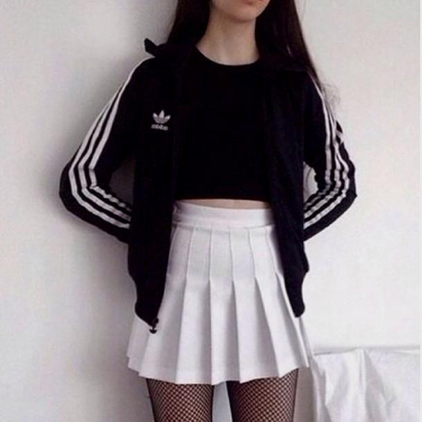 skirt-tumblr-tumblr-outfit-grunge-adidas-skater-skirt-black.jpg (610×610) |  clothes | Pinterest | Clothes - Skirt-tumblr-tumblr-outfit-grunge-adidas-skater-skirt-black.jpg