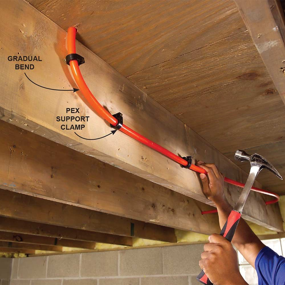 Plumbing with pex tubing pex tubing pipes and radiant for How to plumb a house with pex