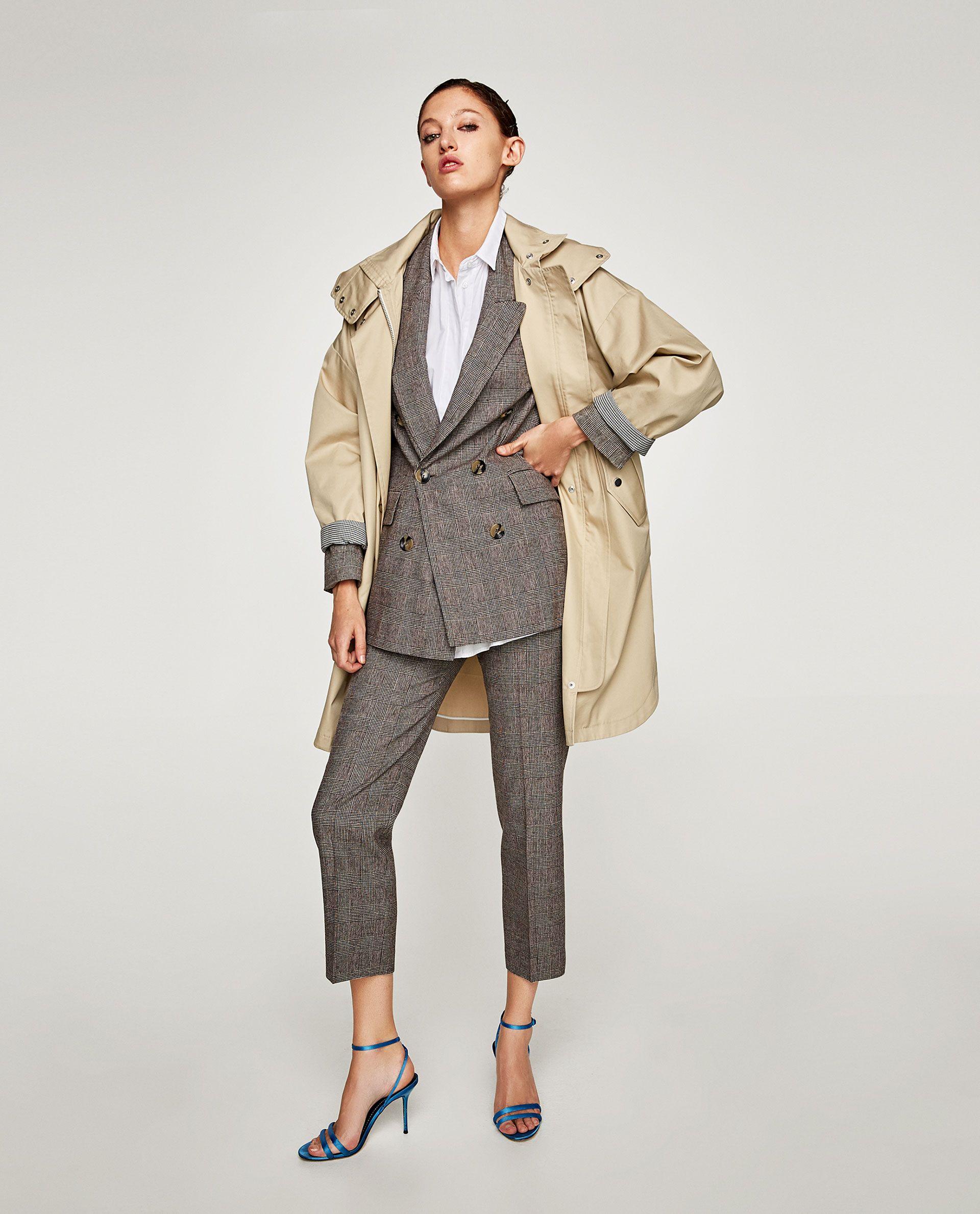 1 Moda De Zara Chaqueta Cuadros Cruzada Imagen Pinterest TAqwCC