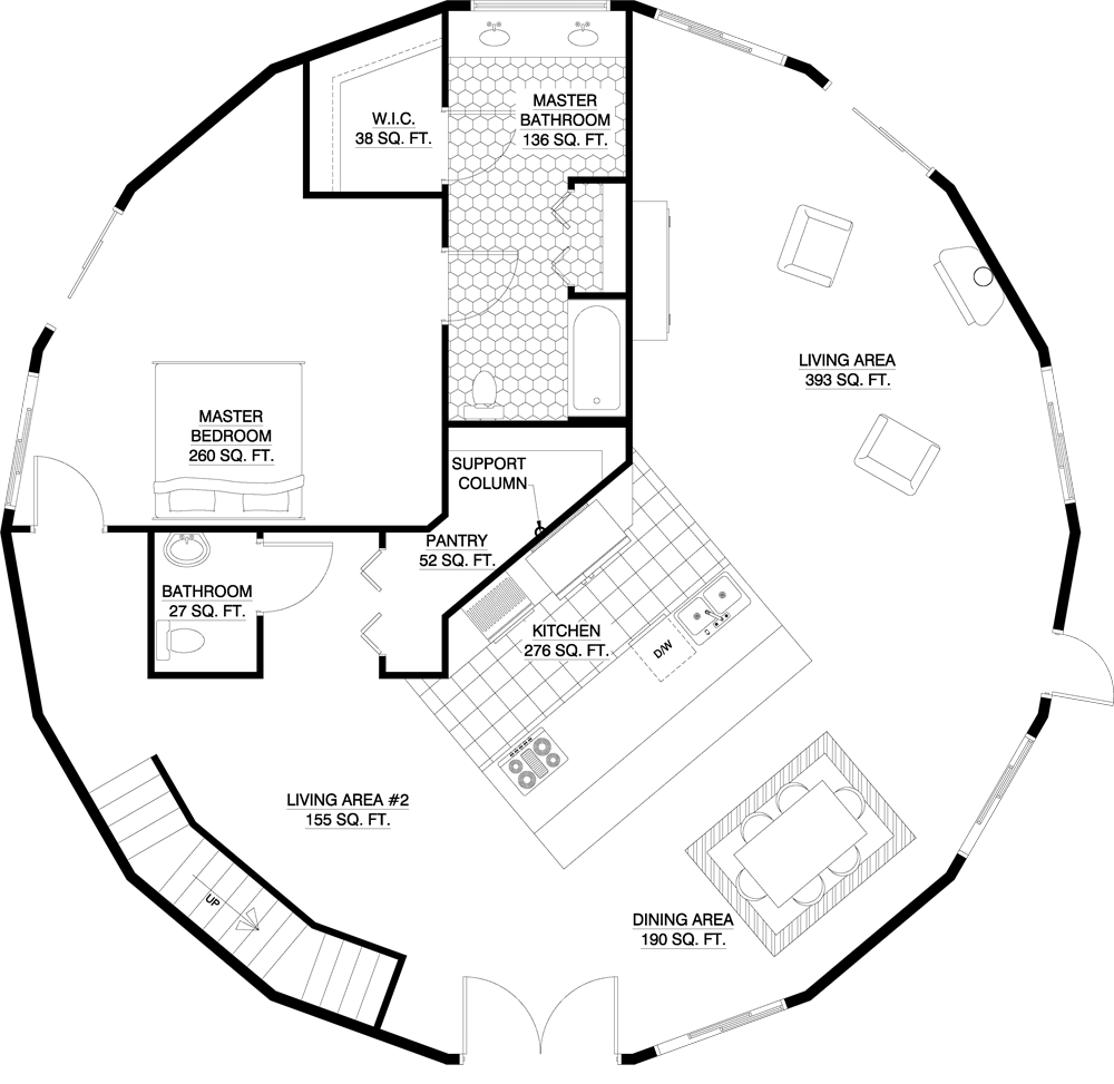 Monolithic Dome Home Plans: 3360 Sq Ft By Deltec Homes For Courrege