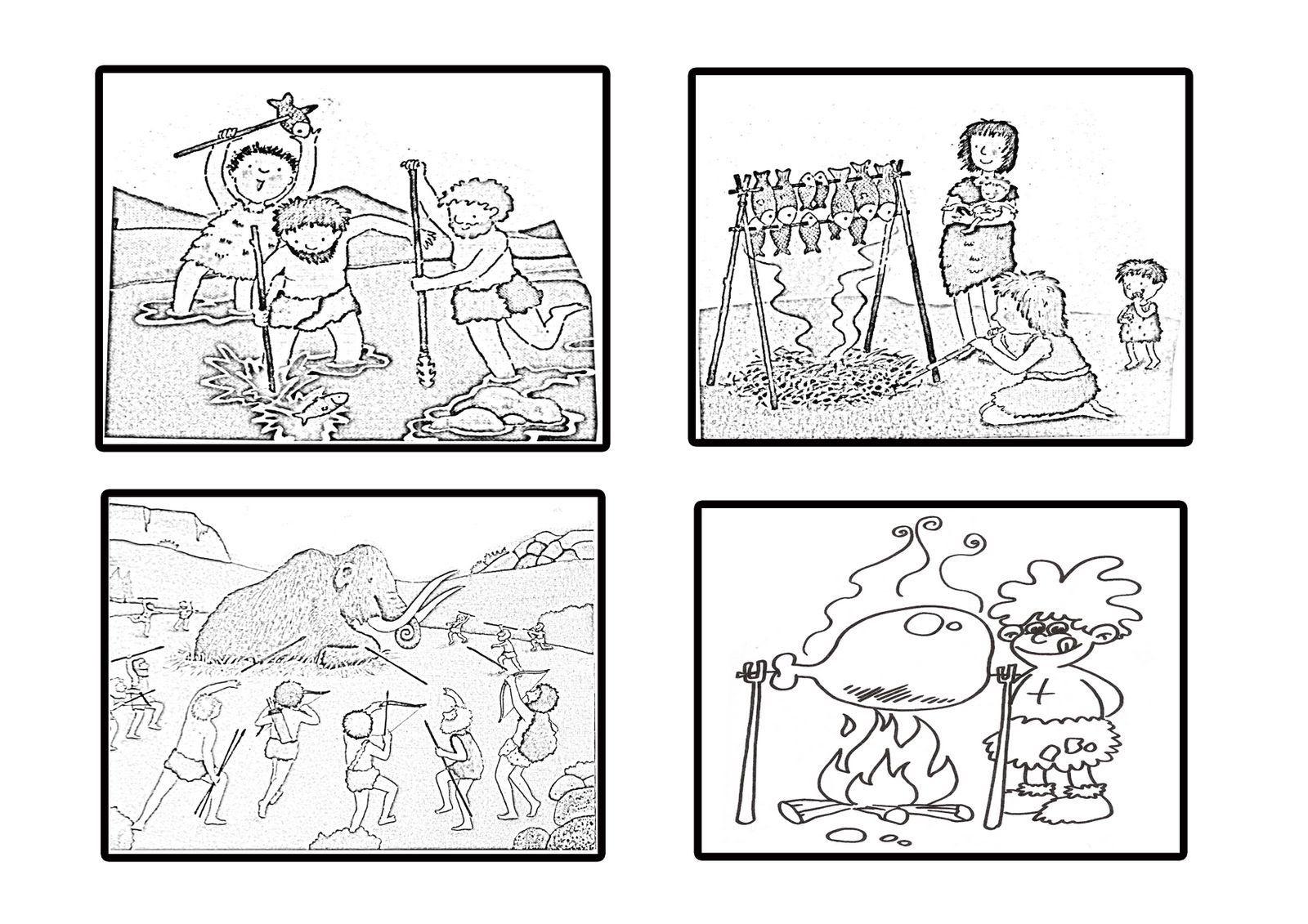 Dibujos De Prehistoria Para Ninos Para Colorear