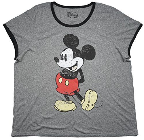 2917de1da320e Disney Mickey Mouse Womens Sleep Shirt Plus Size in Heather Grey 56     Continue to the product at the image link.Note It is affiliate link to  Amazon.