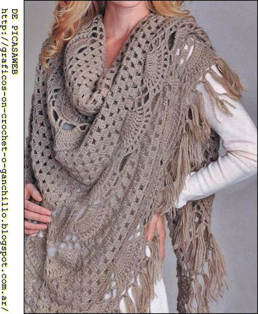crochet chal (GORGEOUS! - now if I can figure out the pattern!)