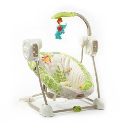 Amazon Com Fisher Price Space Saver Swing And Seat Luv U
