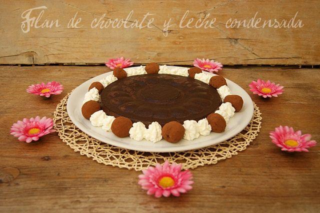 FLAN DE CHOCOLATE Y LECHE CONDENSADA