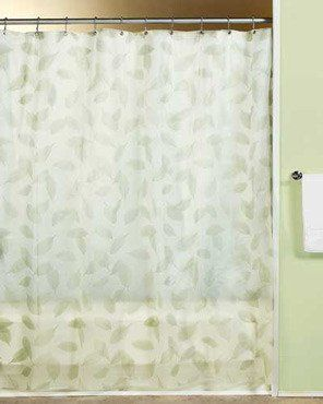 Modern Leaf Peva Shower Curtain With Images Vinyl Shower Curtains
