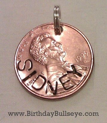 Personalized Penny Pendant from BirthdayBullseye.com - fun idea for kids and teenagers! Get them their own penny that they can put on a necklace, backpack, or whatever!