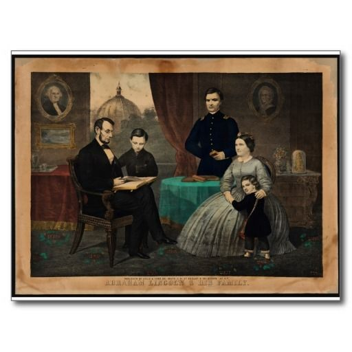 [Kelly & Sons portrait of Abraham Lincoln and his Postcard