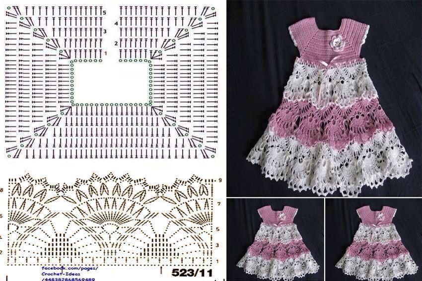 Vestido niña croché | Manulidades | Pinterest