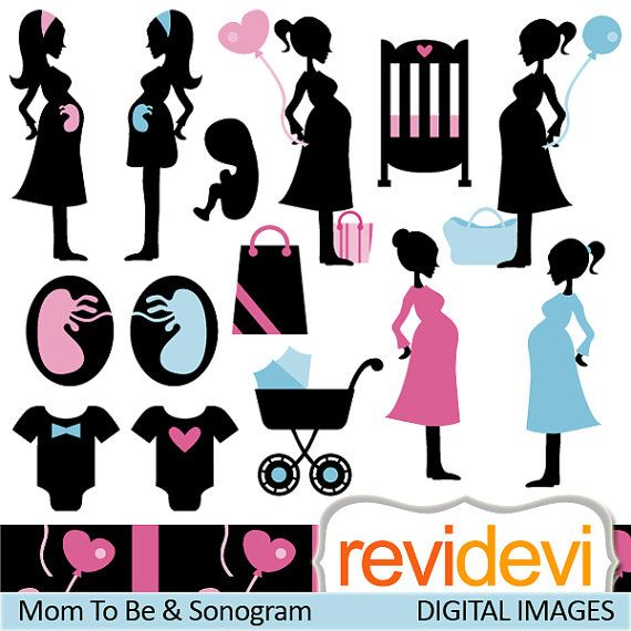 Mom to be and sonogram silhouette pregnant woman digital clipart mom to be and sonogram 07384 silhouette pregnant by revidevi filmwisefo Images