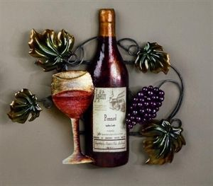 Wine Decor Wall Art grape wall decorations |  vine and grapes wall art red wine