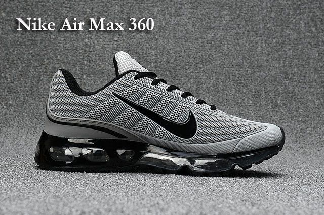 check out 6e2fe fea38 Nike Air Max 360 Mens shoes Black Grey
