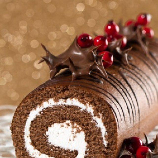 Rollo de Chocolate con Crema de Mascarpone