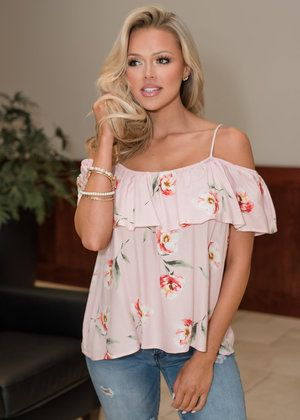 e2557f8dc5a5f9 Your Example Floral Off Shoulder Top Pink CLEARANCE   Treat Yo Self ...