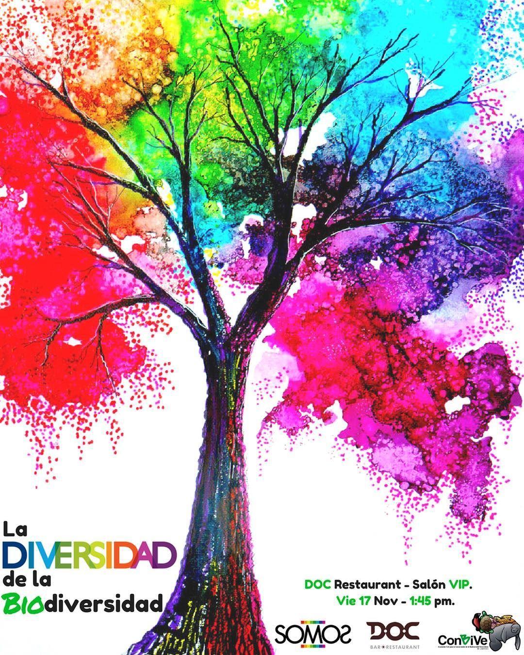 La Diversidad De La Biosiversidad En Conbive Queremos Mostrarte Que La Biodiversidad Esta En Todas Partes Por Eso Siempre Busc Tree Art Diy Art Projects Art