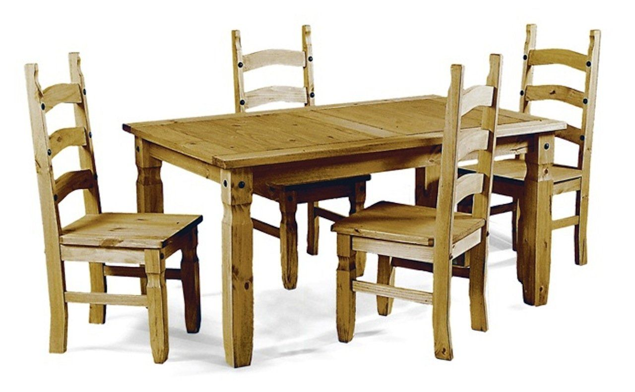 Transcontinental Group Aztec Mexican Dining Set With 4 Chairs 1 5