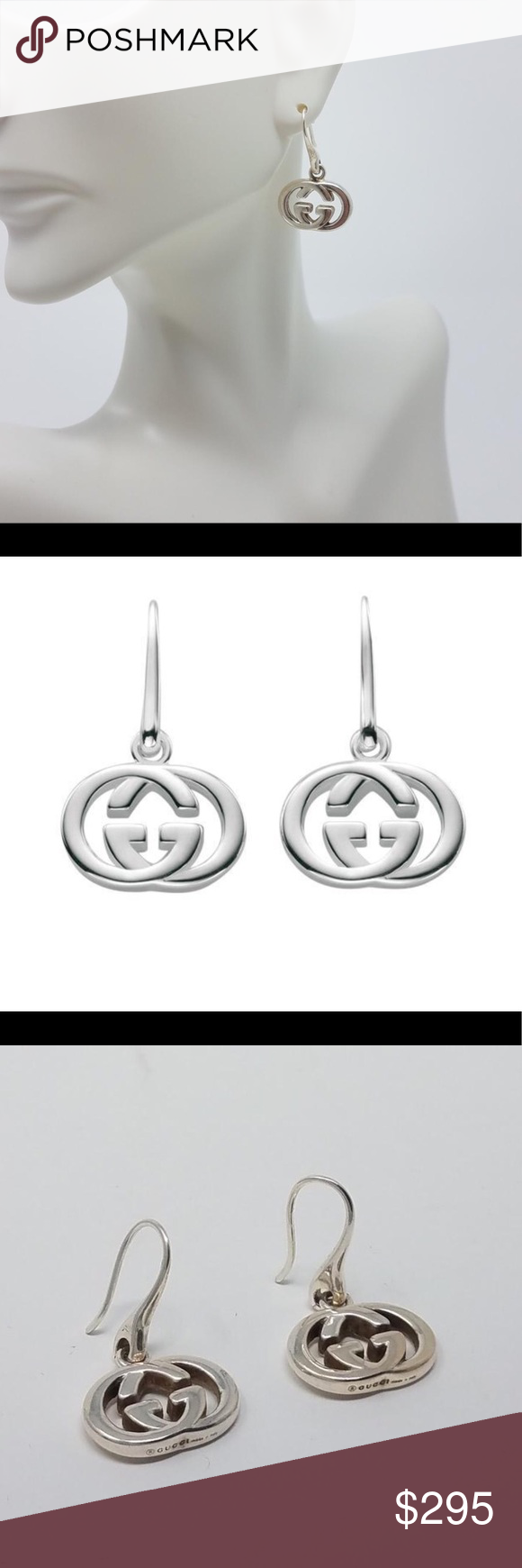 3630c54925e Women s Gucci sterling silver GG drop earrings Women s Gucci sterling silver  interlocking GG drop earrings. Worn twice. In brand new