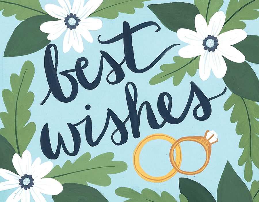 Best Wishes Postable Wedding Congratulations Card Custom Wedding Stationery Wedding Congratulations