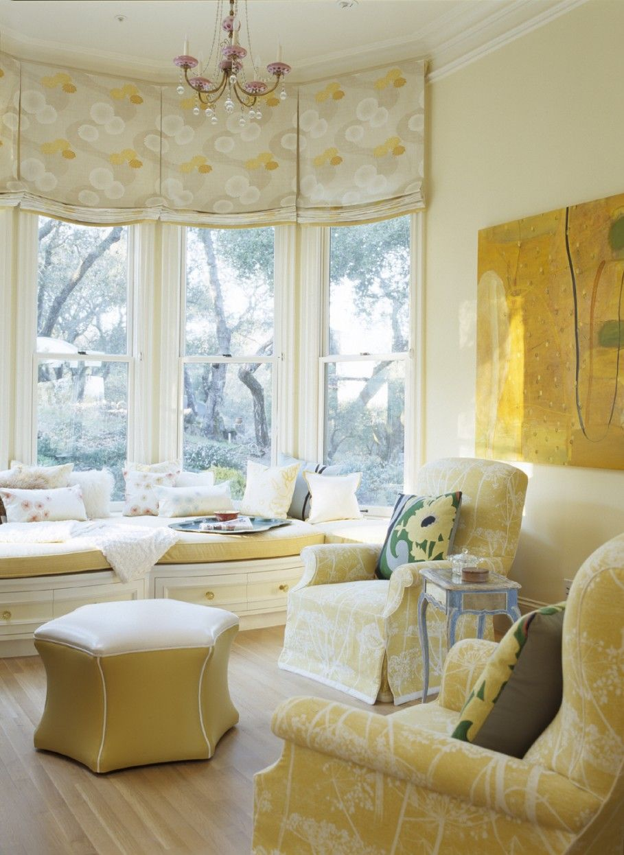 Apartments: Beautiful Soft Cheerful Roman Shades Outside Mount For ...