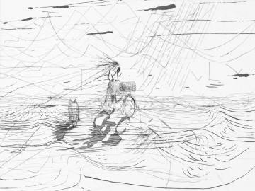 John Kørner • Untitled • 2012 • soft ground etching, line etching, spit bite aquatint, drypoint • Somerset 300 gr. • 29,8 x 39,5/39,4 x 47,5...