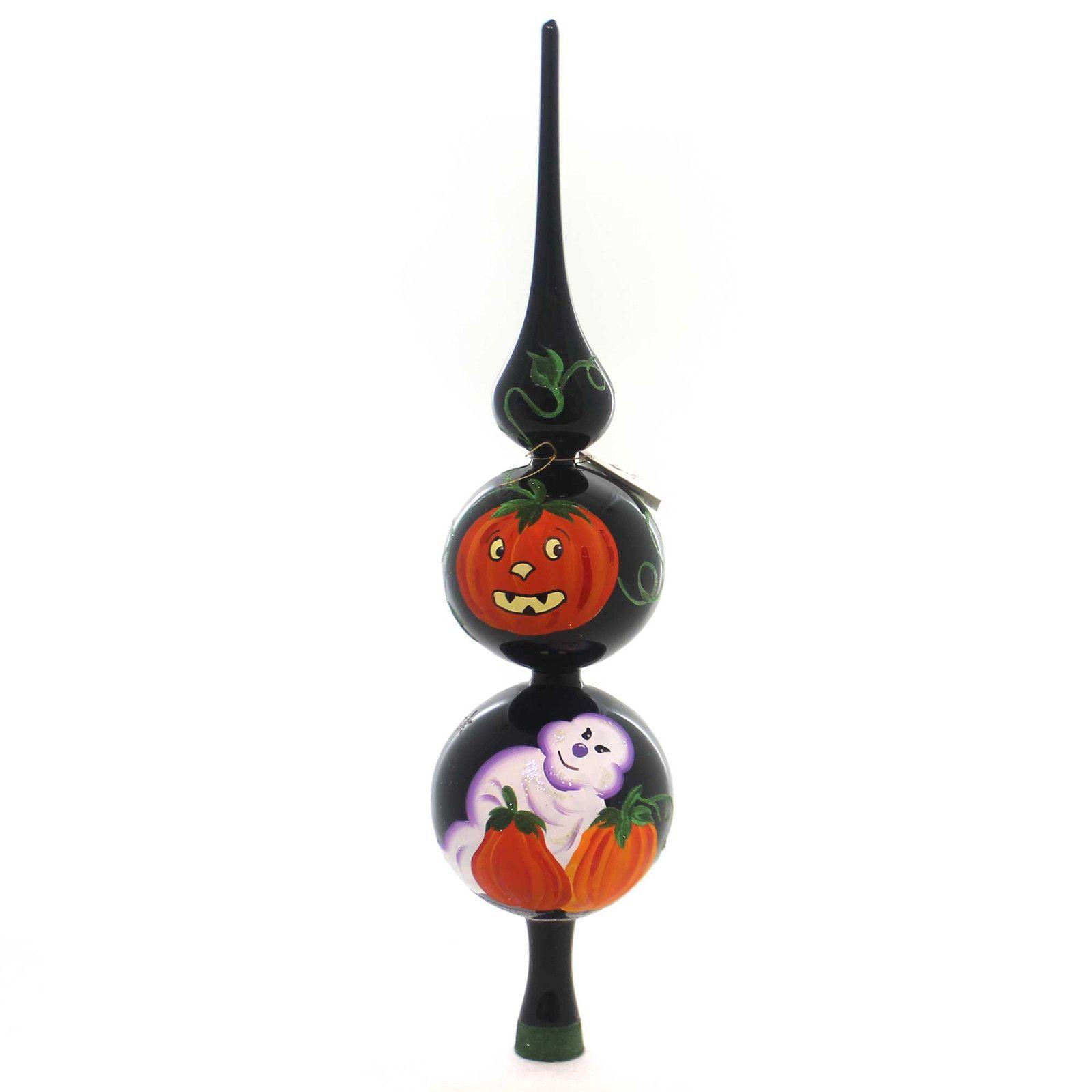 Italian ornaments - Laved Italian Ornaments Halloween Ghost Pumpkin Finial Tree Topper Finial
