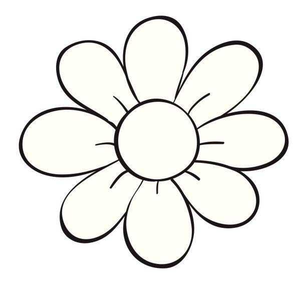 Dibujos De Flores Para Imprimir Y Pintar Leaf Petal Outlines
