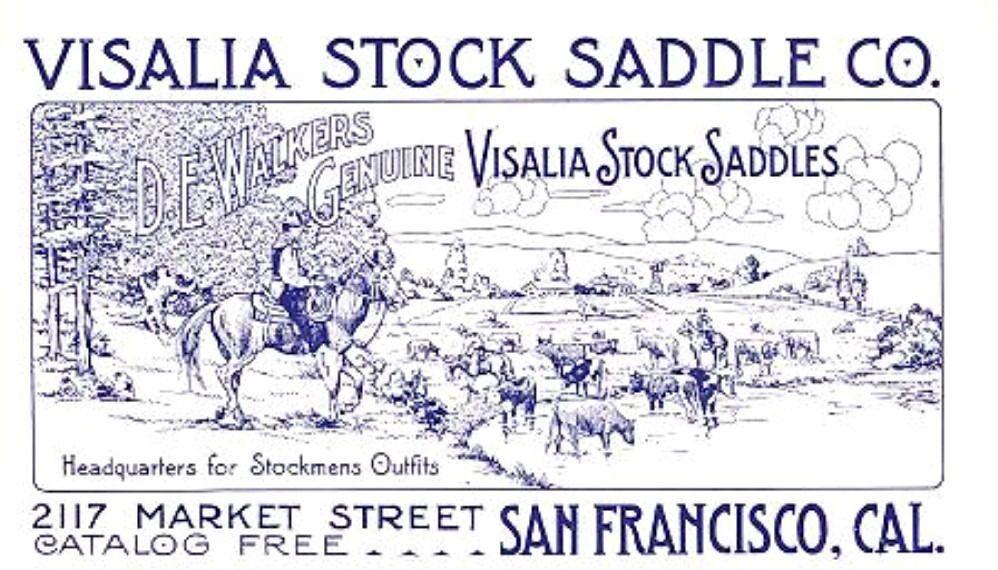 Business card visalia stock saddle company circa 1907 ebay business card visalia stock saddle company circa 1907 ebay reheart Image collections