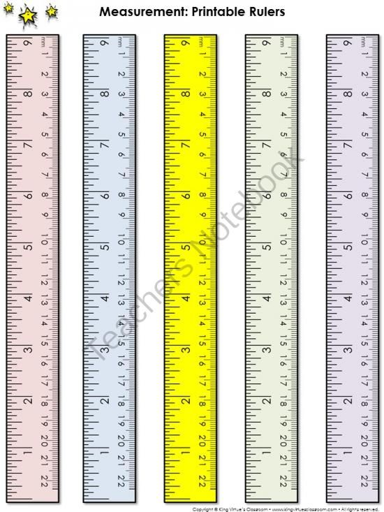 Ruler Measurement Tools Printable Rulers 9 Inches And 22