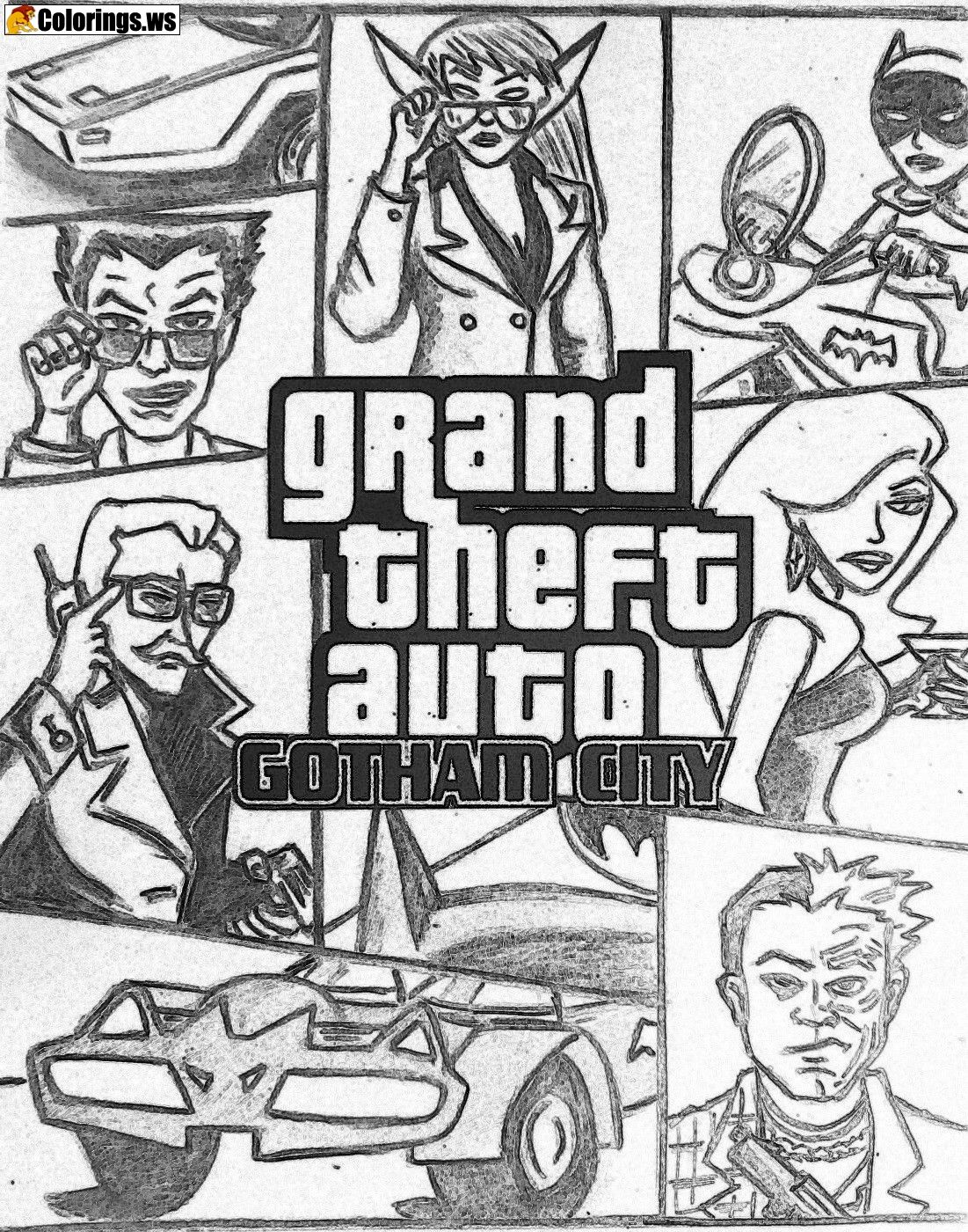 Gta 5 coloring pages gotham city gta 5 coloring pages rockstars open world hit gta 5 has sold more than 90 million copies worldwide
