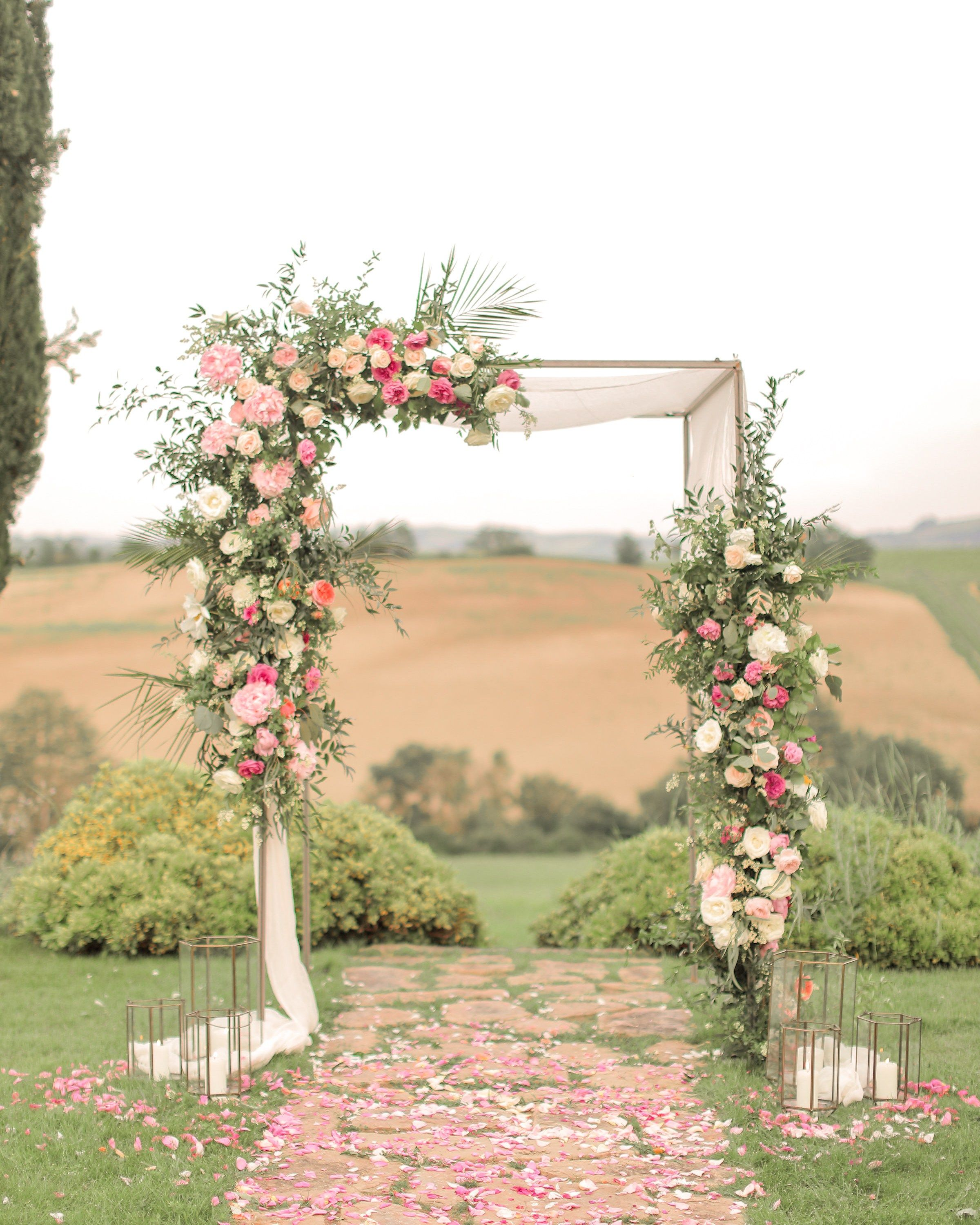 Outdoor Wedding Arch: TUSCANY WEDDING Wedding Arch, Wedding Flowers, Tuscany