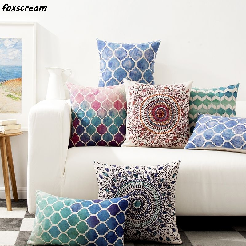 Vintage Bohemian decorative throw pillows geometric living room
