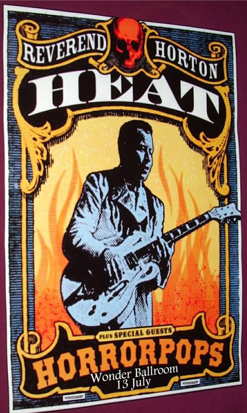 Reverend Horton Heat Poster Concert 9 84 Reverendhortonheat