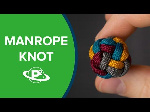 Hide Paracord Ends with a Manrope Knot #ropeknots